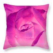 Pink Rose - Photopower 1790 Throw Pillow