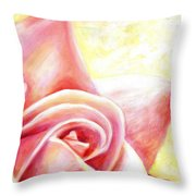 Pink Rose Panel Two Of Four Throw Pillow
