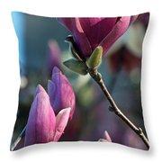 Pink Saucer Magnolia II Throw Pillow