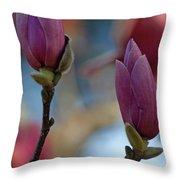 Pink Saucer Magnolia IIi Throw Pillow