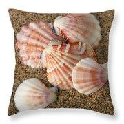 Pink Shells Throw Pillow