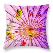 Pink Shelter Throw Pillow