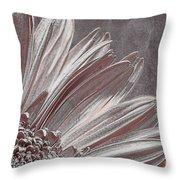 Pink Silver Throw Pillow