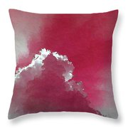 Pink Sk With A Cloud Throw Pillow