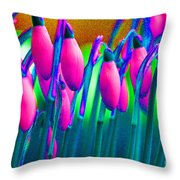 Pink Snowdrops Throw Pillow