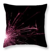 Pink Sparkle Throw Pillow
