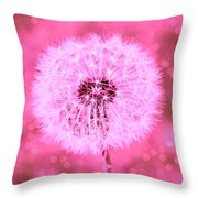 Pink Sparkles Throw Pillow
