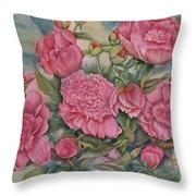 Pink Splendor Throw Pillow