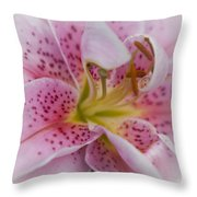 Pink Spotted Lily Throw Pillow