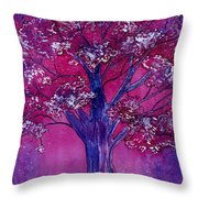 Pink Spring Awakening Throw Pillow