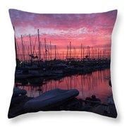 Pink Summer Sunset  Throw Pillow