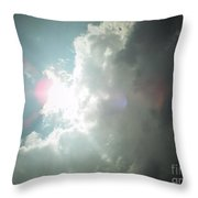 Pink Sun Glow Before The Storm Throw Pillow