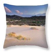 Pink Sunset At The Desert Throw Pillow