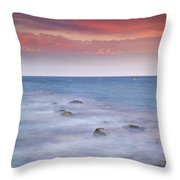 Pink Sunset At The Mediterranean Throw Pillow