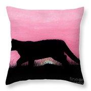 Pink - Sunset - Panther Throw Pillow
