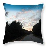 Pink Sunset Sky Throw Pillow
