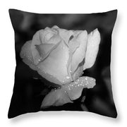 Pink Tea Rose 02 - Infrared Throw Pillow