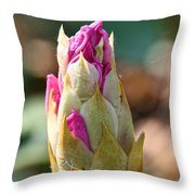 Pink Tip Throw Pillow