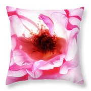 Pink Tourmaline Palm Springs Throw Pillow by William Dey