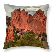 Pink Towers Of The Gods Throw Pillow