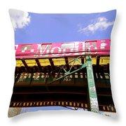Pink Train Throw Pillow