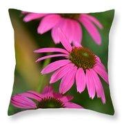 Pink Trifecta Throw Pillow