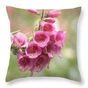 Pink Trumpet Throw Pillow by Kim Hojnacki