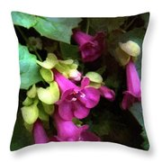 Pink Trumpets Throw Pillow