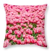 Pink Tulip Carpet  Throw Pillow