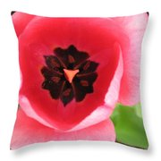Pink Tulip Interior Throw Pillow