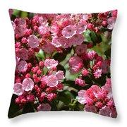 Pink Umbrellas Throw Pillow