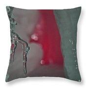 Pink Vein Throw Pillow