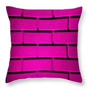 Pink Wall Throw Pillow