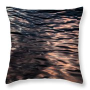 Pink Water 01 Throw Pillow by Grebo Gray
