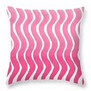 Pink Waves- Abstract Watercolor Pattern Throw Pillow
