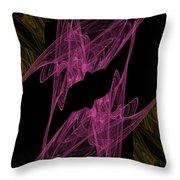 Pink Web Throw Pillow