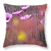 Pink Wild Geranium Throw Pillow