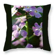 Pink Wildflwer Throw Pillow