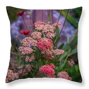 Pink Yarrow Throw Pillow
