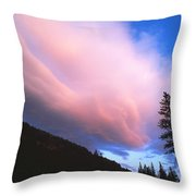 Pink Yellowstone Sunset Throw Pillow