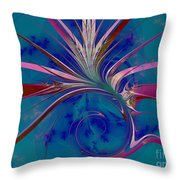 Pink Yucca Twist Throw Pillow