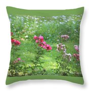 Pinks And Daisies Throw Pillow