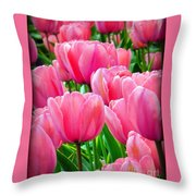 Pinks My Color Throw Pillow