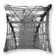 Pinnacle In Shelby B-w Throw Pillow
