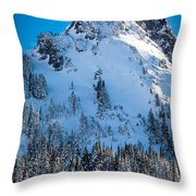 Pinnacle Peak Winter Glory Throw Pillow