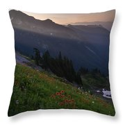 Pinnacle Saddle View Out Back Throw Pillow
