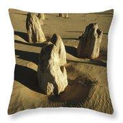 Pinnacles In Nambung National Park Throw Pillow