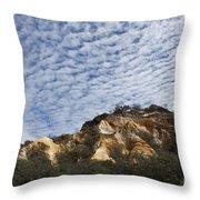 Pinnacles Of Fraser Island Throw Pillow by Linda Lees