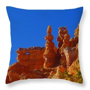 Pinnacles Of Red Rock Throw Pillow
