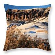 Pinnacles Sunset Throw Pillow